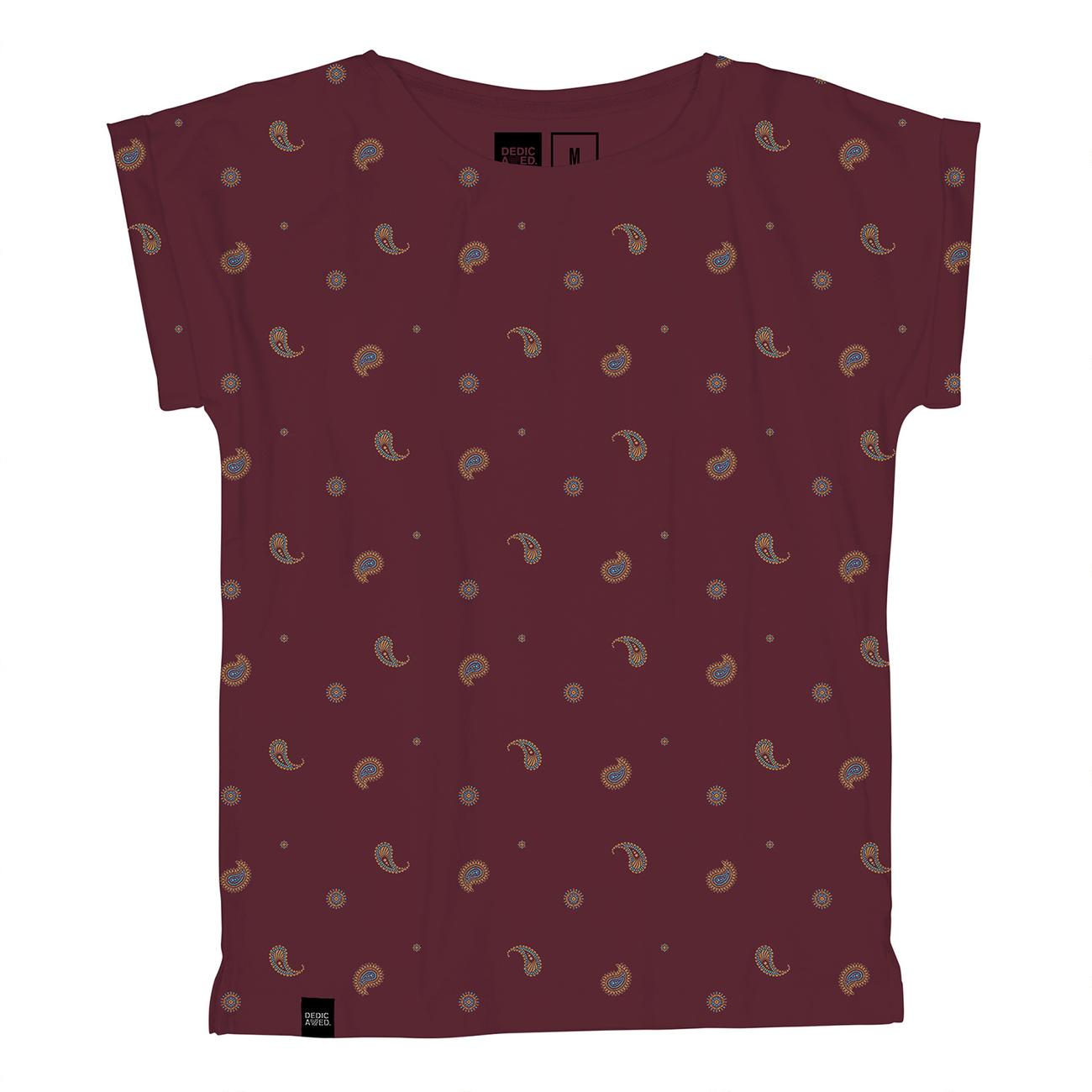 T-shirt Visby Paisley Burgundy