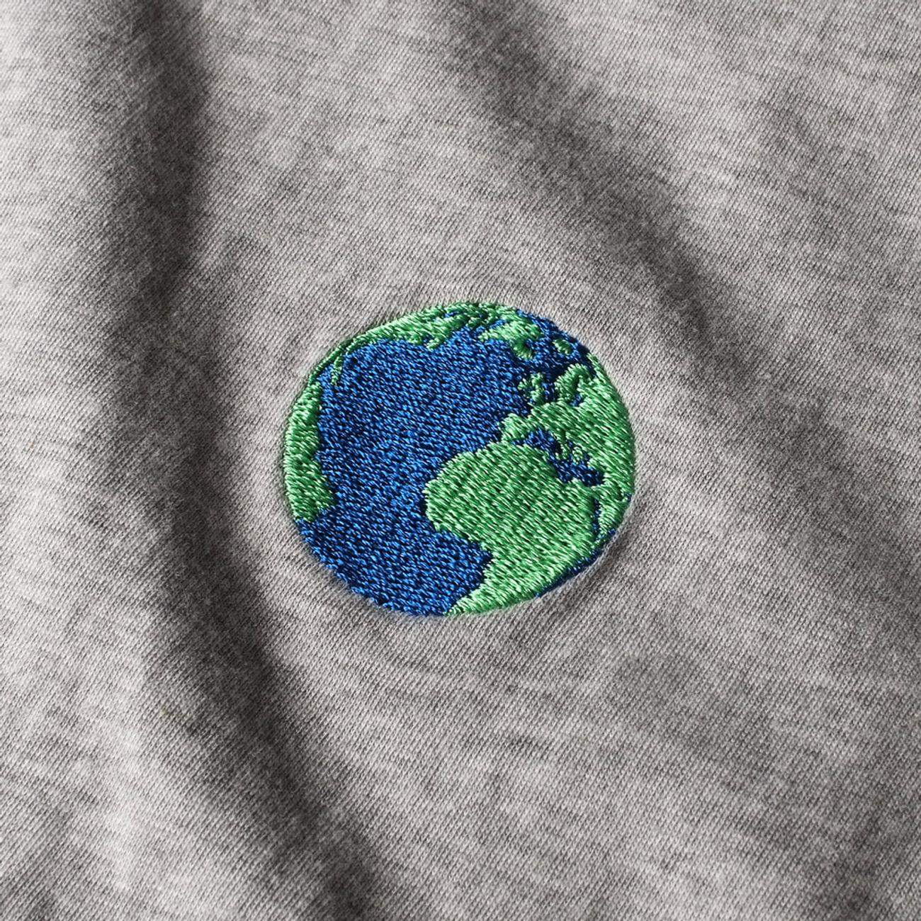 T-shirt Mysen Globe Grey Melange