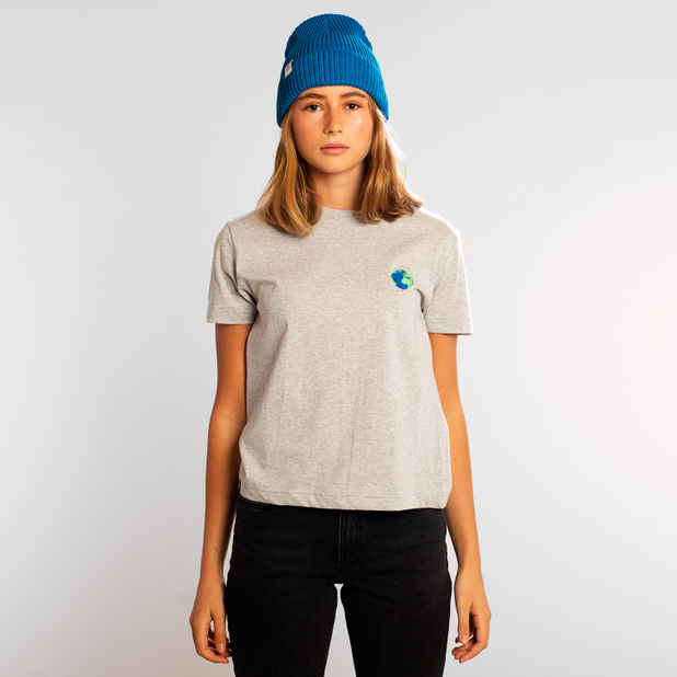 T-shirt Mysen Globe Grå