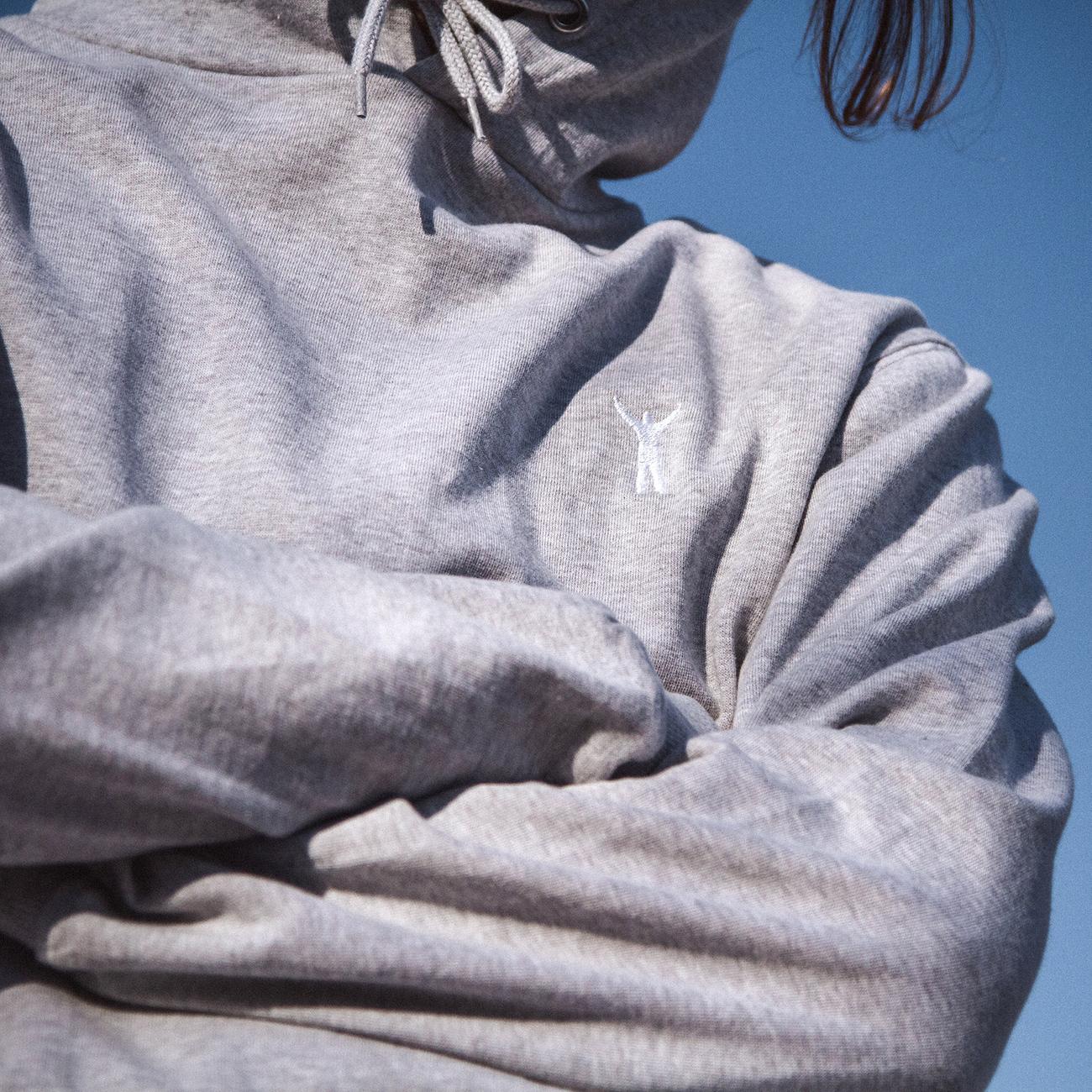 Hoodie Falun Rocky Pose Grey Melange