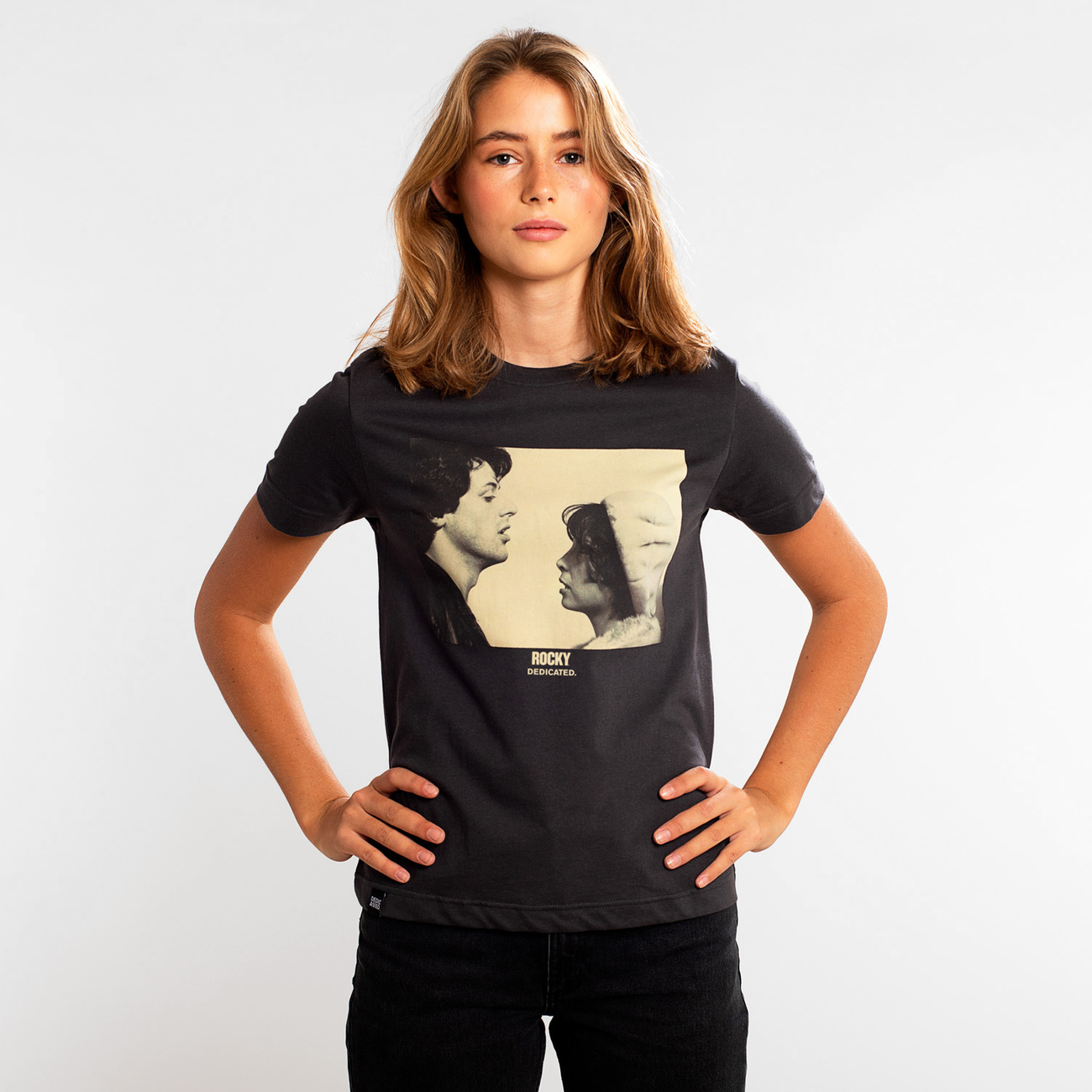 T-shirt Mysen Rocky Face to Face Charcoal