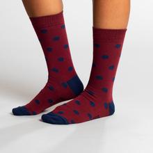 Socks Sigtuna Dots Burgundy