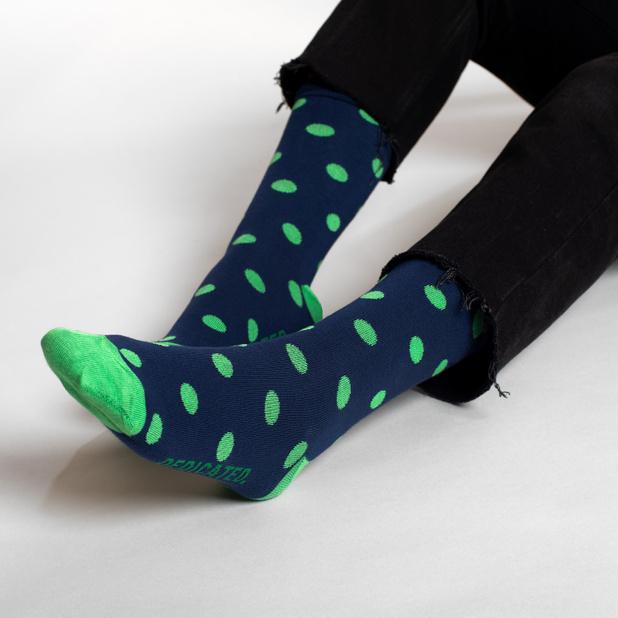 Socks Sigtuna Dots Navy