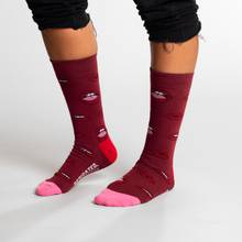 Socks Sigtuna Lips Pattern Burgundy