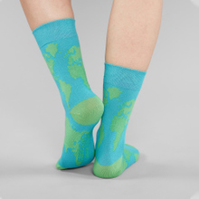 Socks Sigtuna World Map Blue