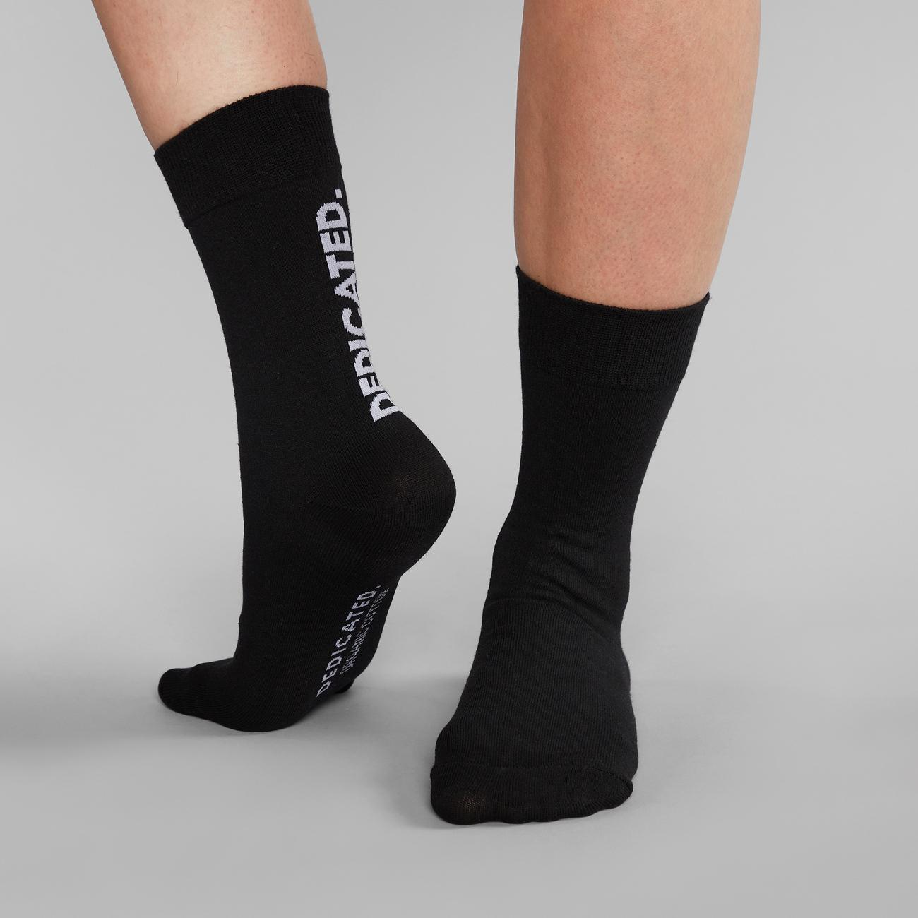 Socks Sigtuna Dedicated Logo Black