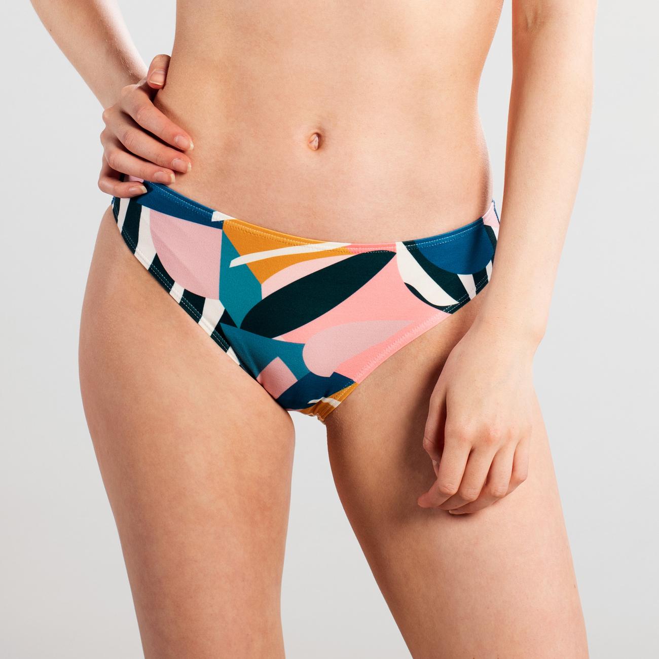 Bikini Briefs Burgsvik Collage Leaves