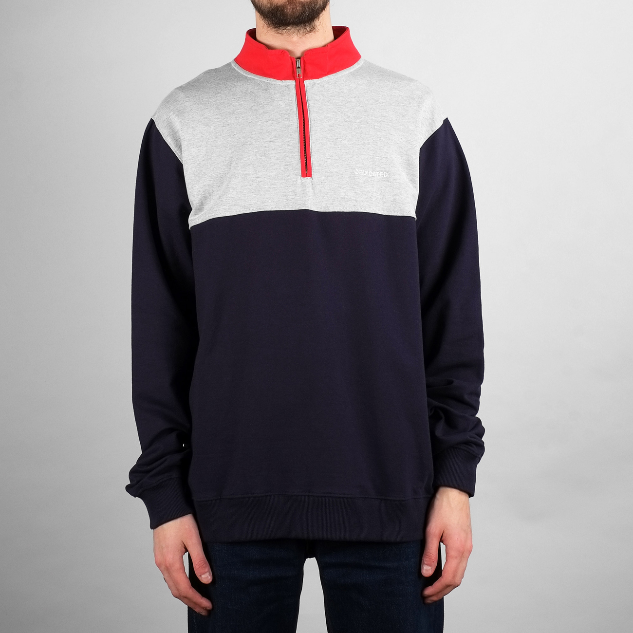 Sweatshirt Duved Split Navy