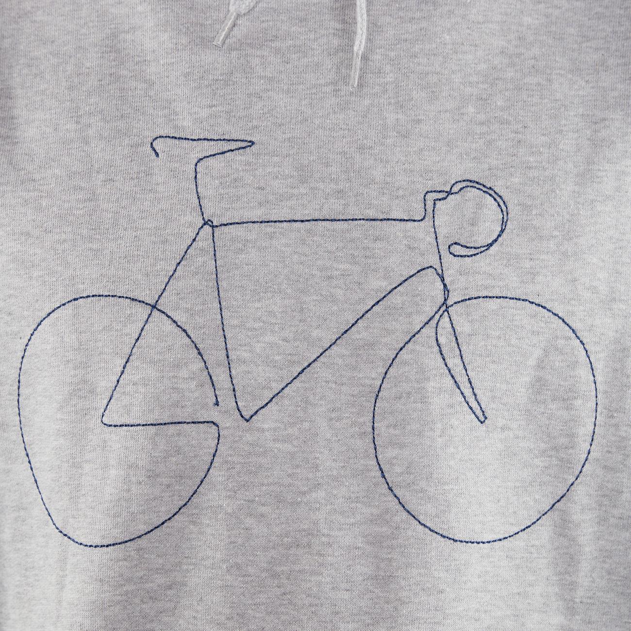 Hoodie Falun Bicycle Grey Melange