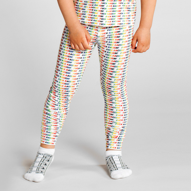 Leggings Lummelunda Fuck Racism Stripes