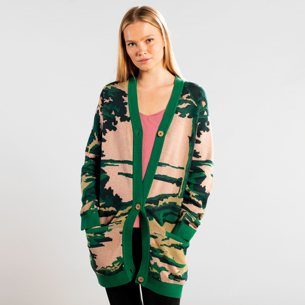 Cardigan Sola Deep Forest Pink