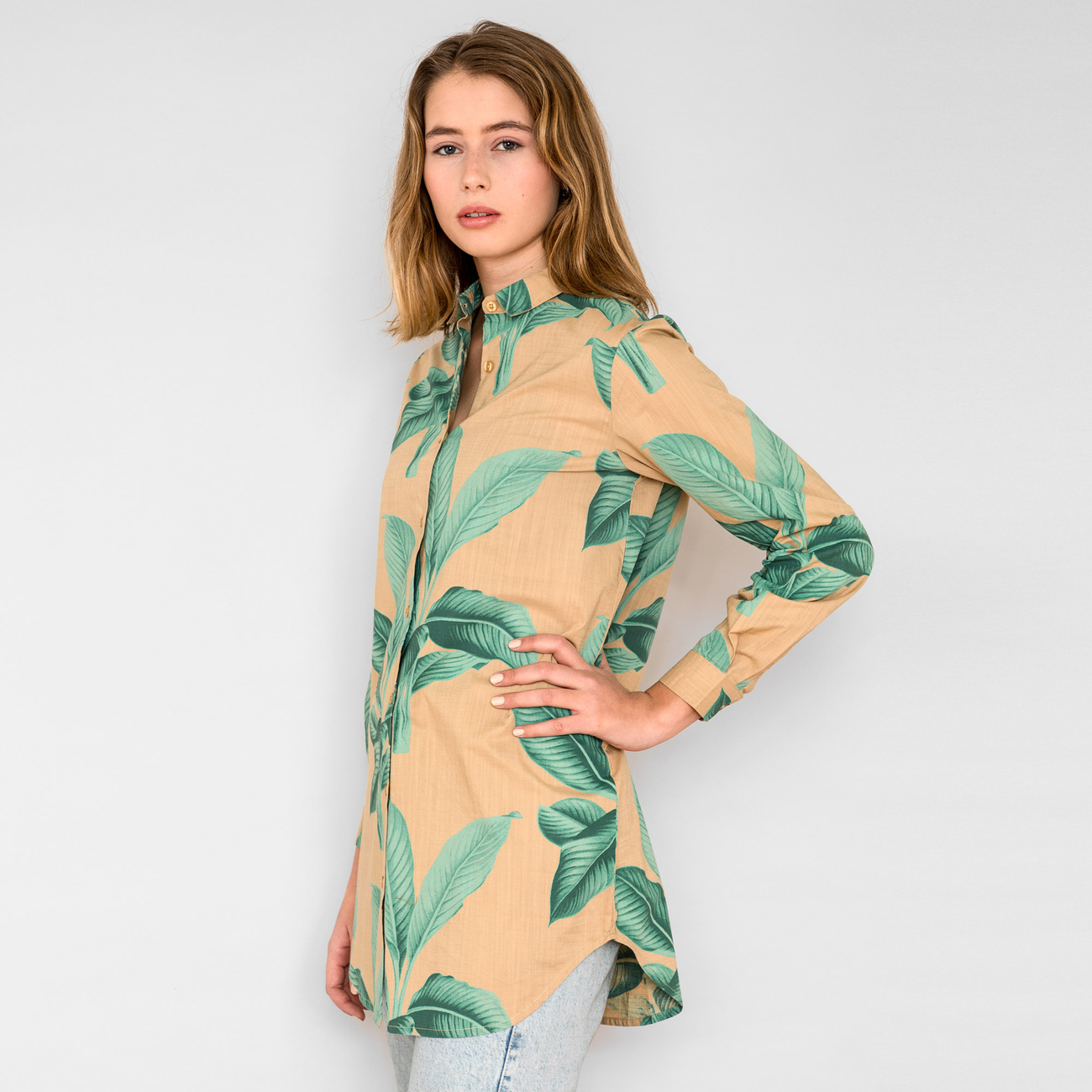 Shirt Fredericia Khaki Leaves