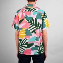 Shirt Short Sleeve Marstrand Collage Leaves
