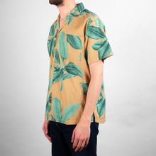 Shirt Short Sleeve Marstrand Khaki Leaves