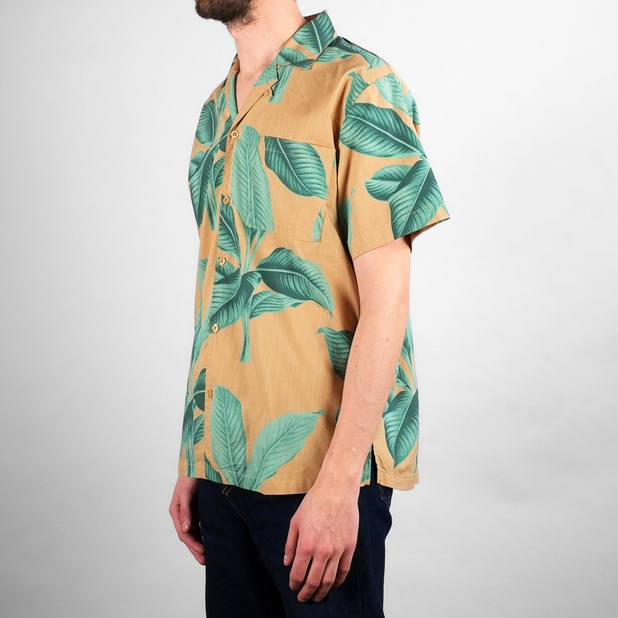 Shirt Short Sleeve Marstrand Khaki Leaves