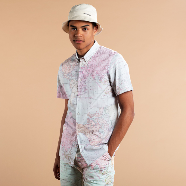Shirt Short Sleeve Sandefjord Map