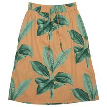 Skirt Klippan Khaki Leaves
