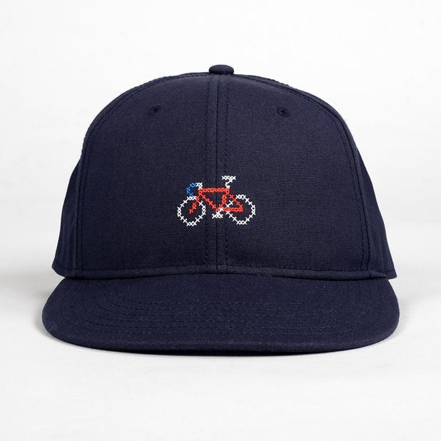 Snapback Cap Stitch Bike Navy