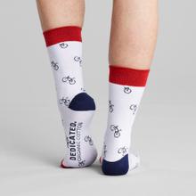 Socks Sigtuna Bike Pattern White