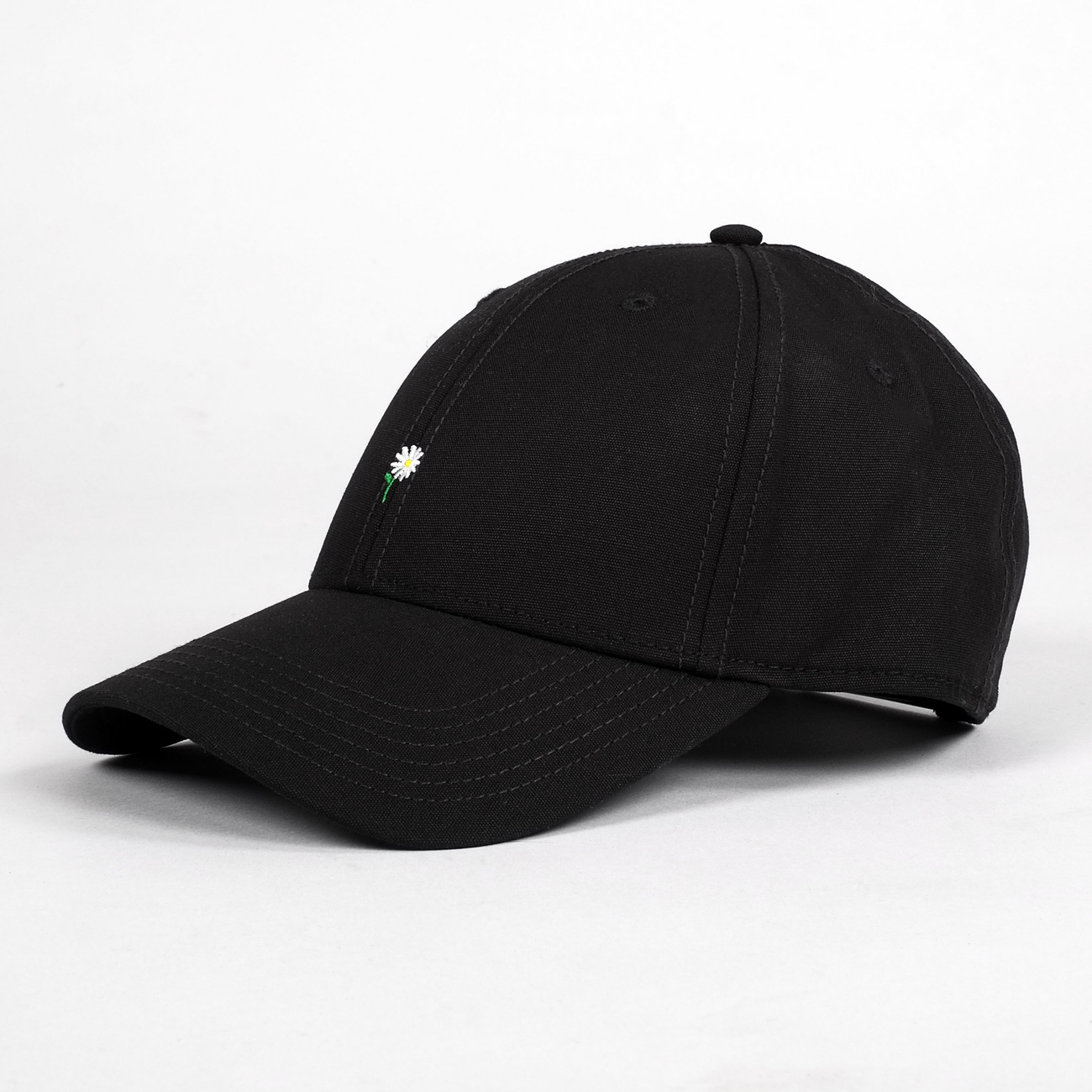 Sport Cap Flower Black