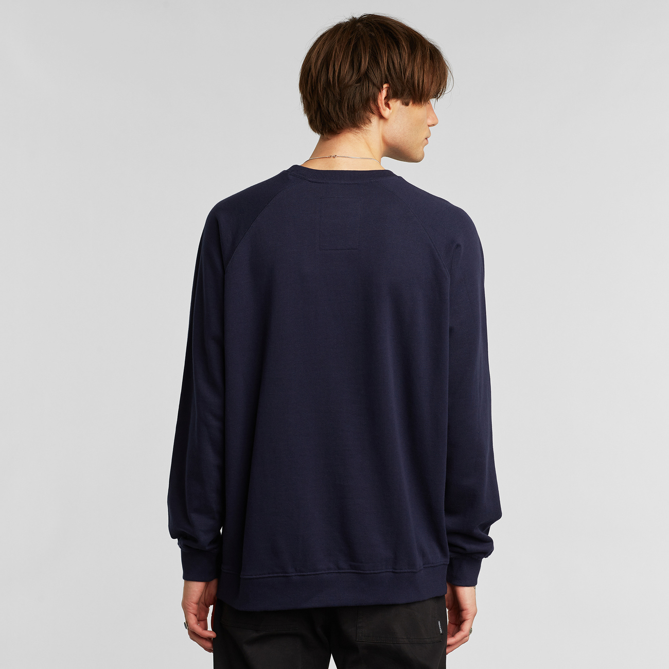 Sweatshirt Malmoe Stitched Wave Navy