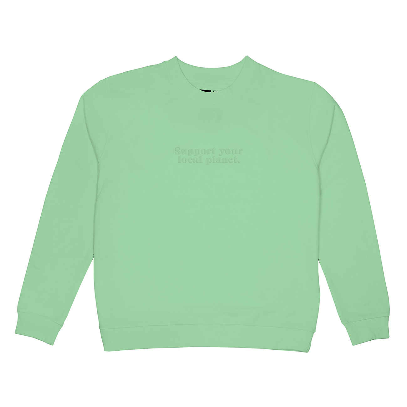 Sweatshirt Ystad Planet Support Mint