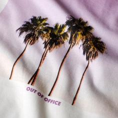 T-shirt Mysen Purple Palms