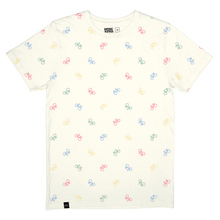 T-shirt Stockholm Bike Pattern Off-White