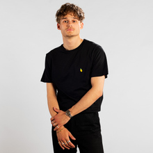 T-shirt Stockholm Lemon Black