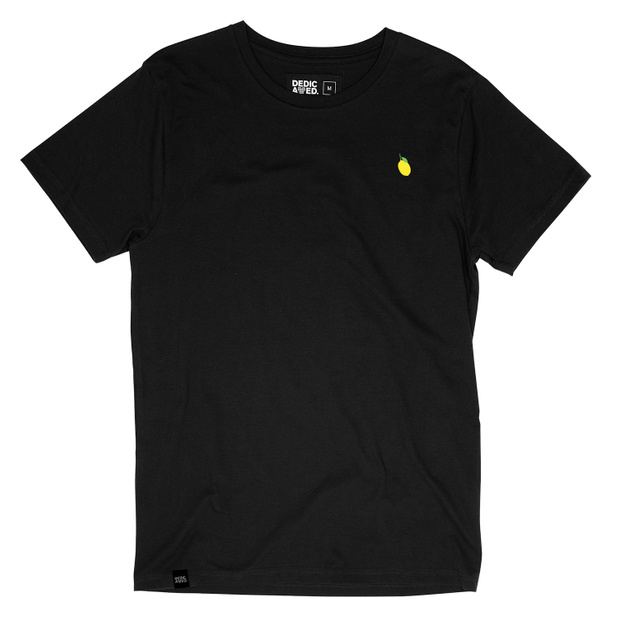 T-shirt Stockholm Lemon Black