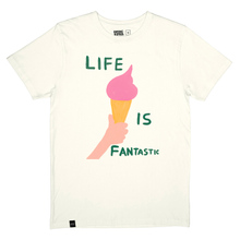 T-shirt Stockholm Life Is Fantastic Off White