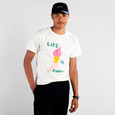 T-shirt Stockholm Life Is Fantastic Off White
