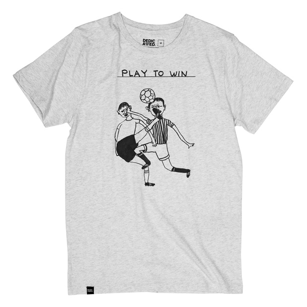T-shirt Stockholm Play To Win Grey Melange