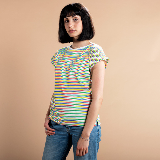 T-shirt Visby Color Stripes