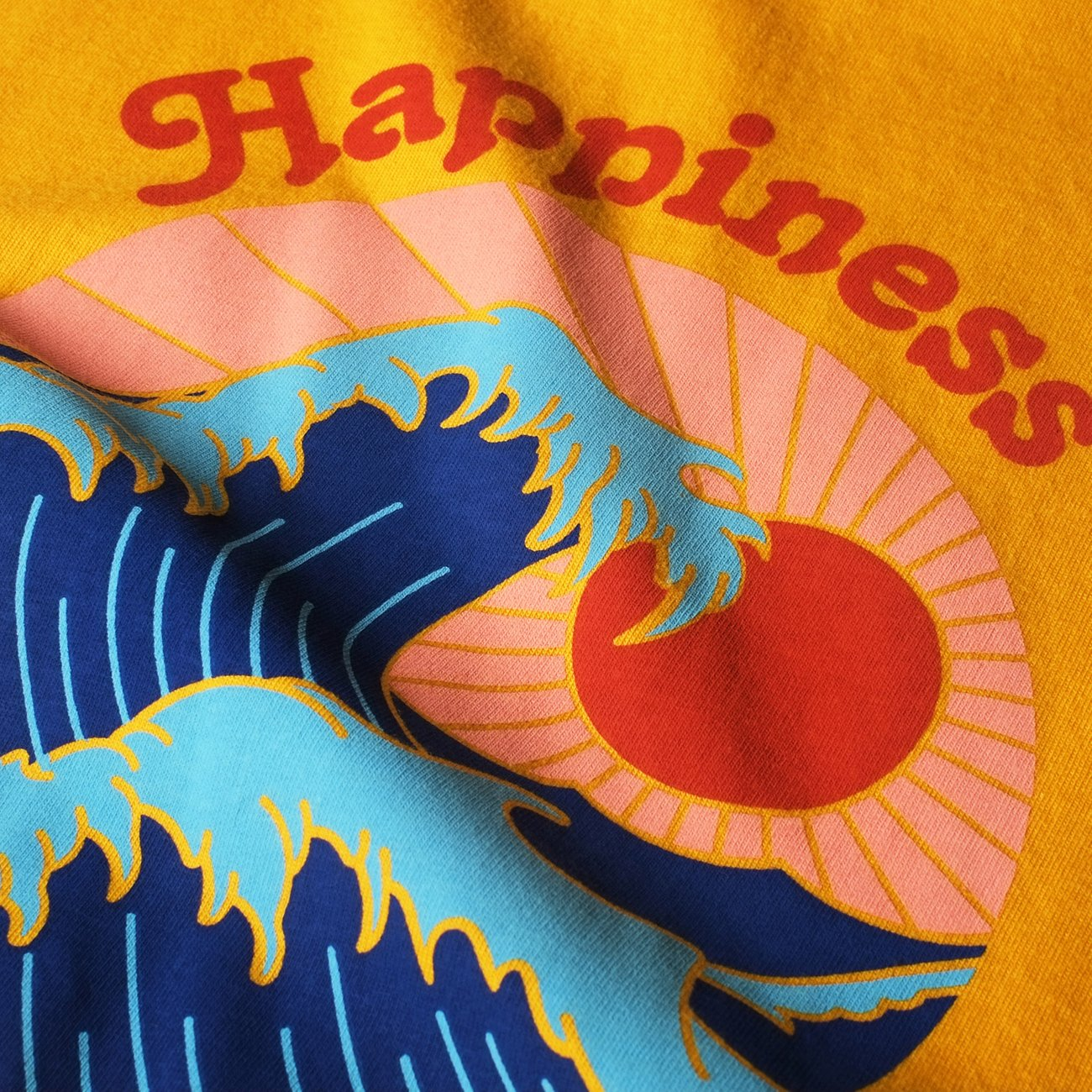 T-shirt Visby Happiness Yellow