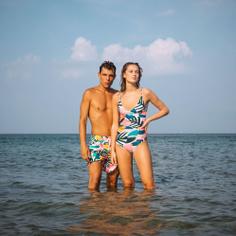 Swim Shorts Sandhamn Collage Leaves