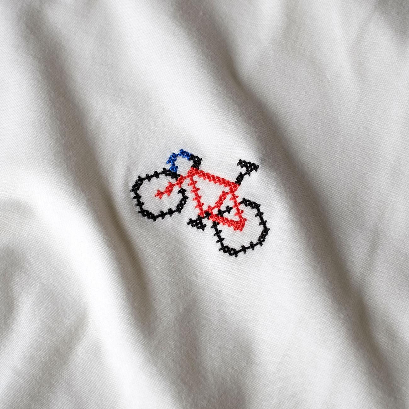 T-shirt Mysen Cross Stitched Bike