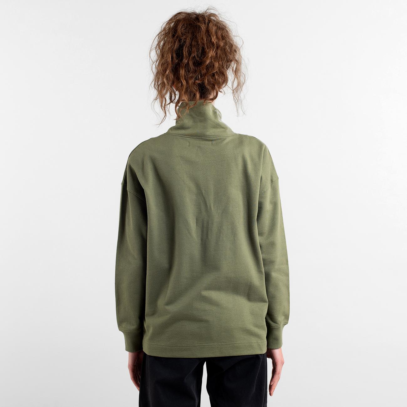Sweatshirt Halfzip Mariestad Leaf Green