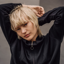 Sweatshirt Halfzip Mariestad Black