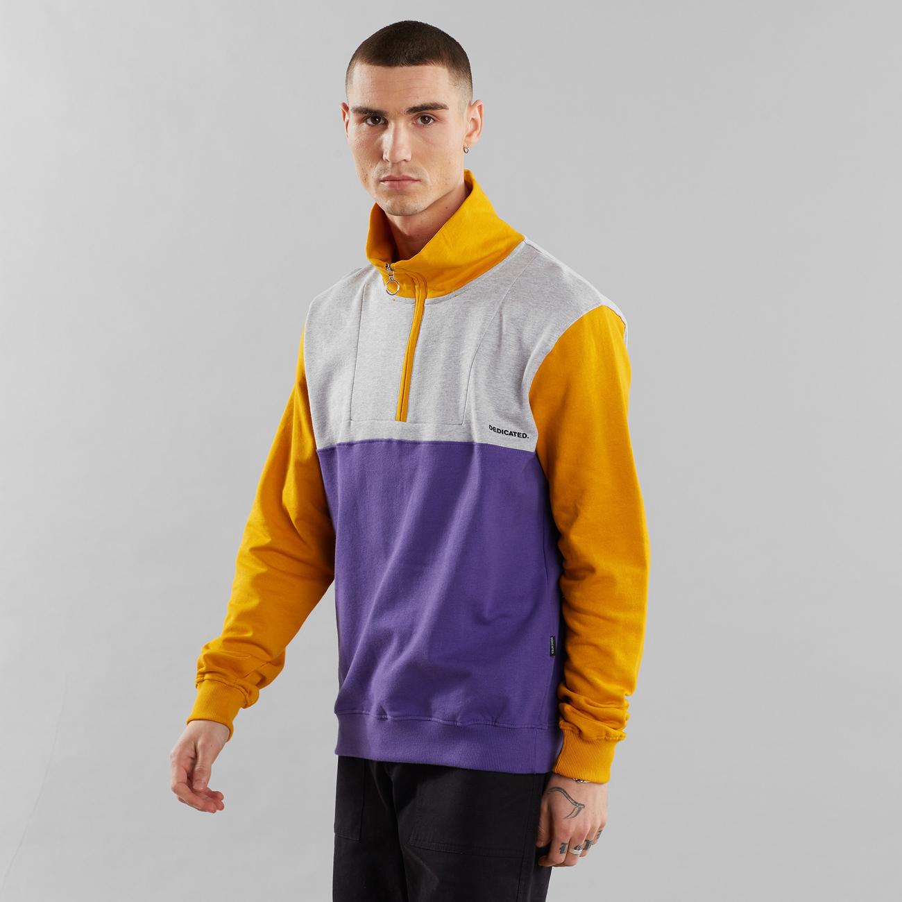 Sweatshirt Halfzip Storlien Split Golden Yellow