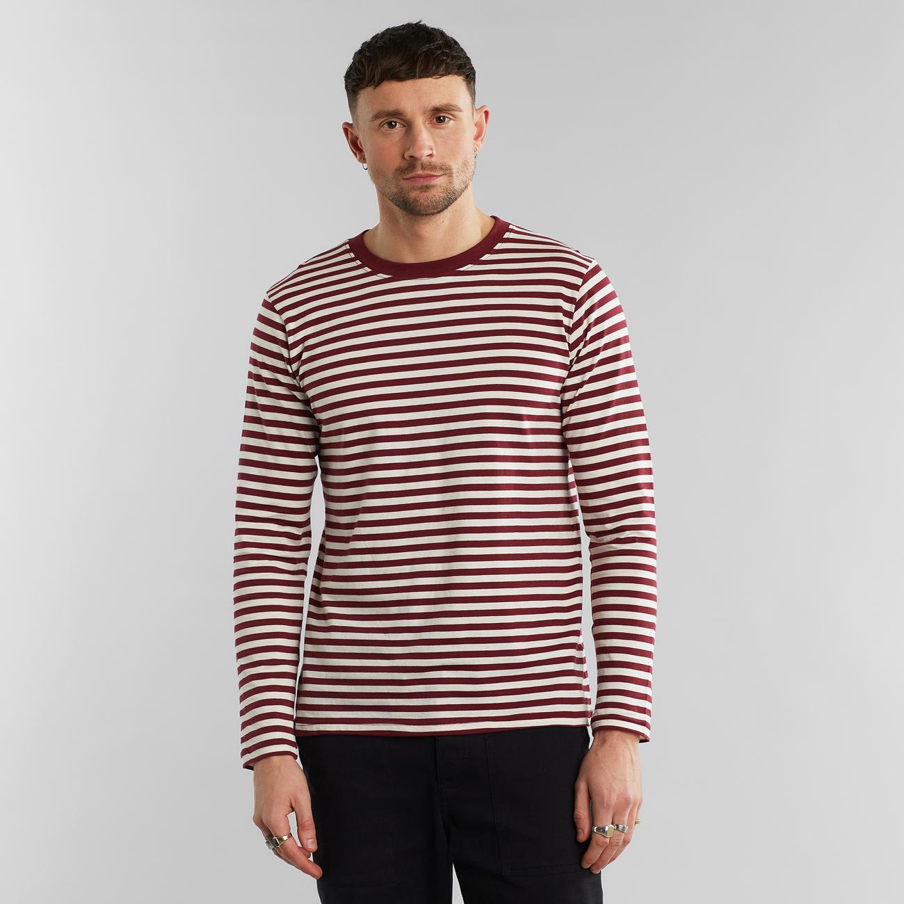 Long Sleeve T-shirt Hasle Stripes Burgundy