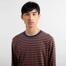 Long Sleeve T-shirt Hasle Stripes Mocha Brown