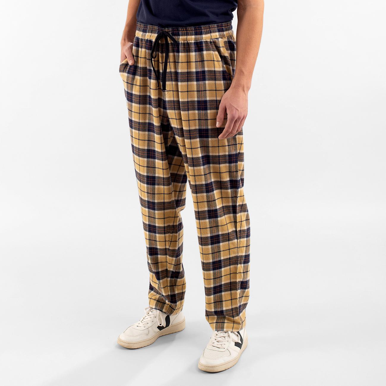 Pants Ljugarn Flannel Checker Beige