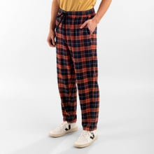 Pants Ljugarn Flannel Checker Orange