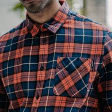 Shirt Rute Flannel Checker Orange
