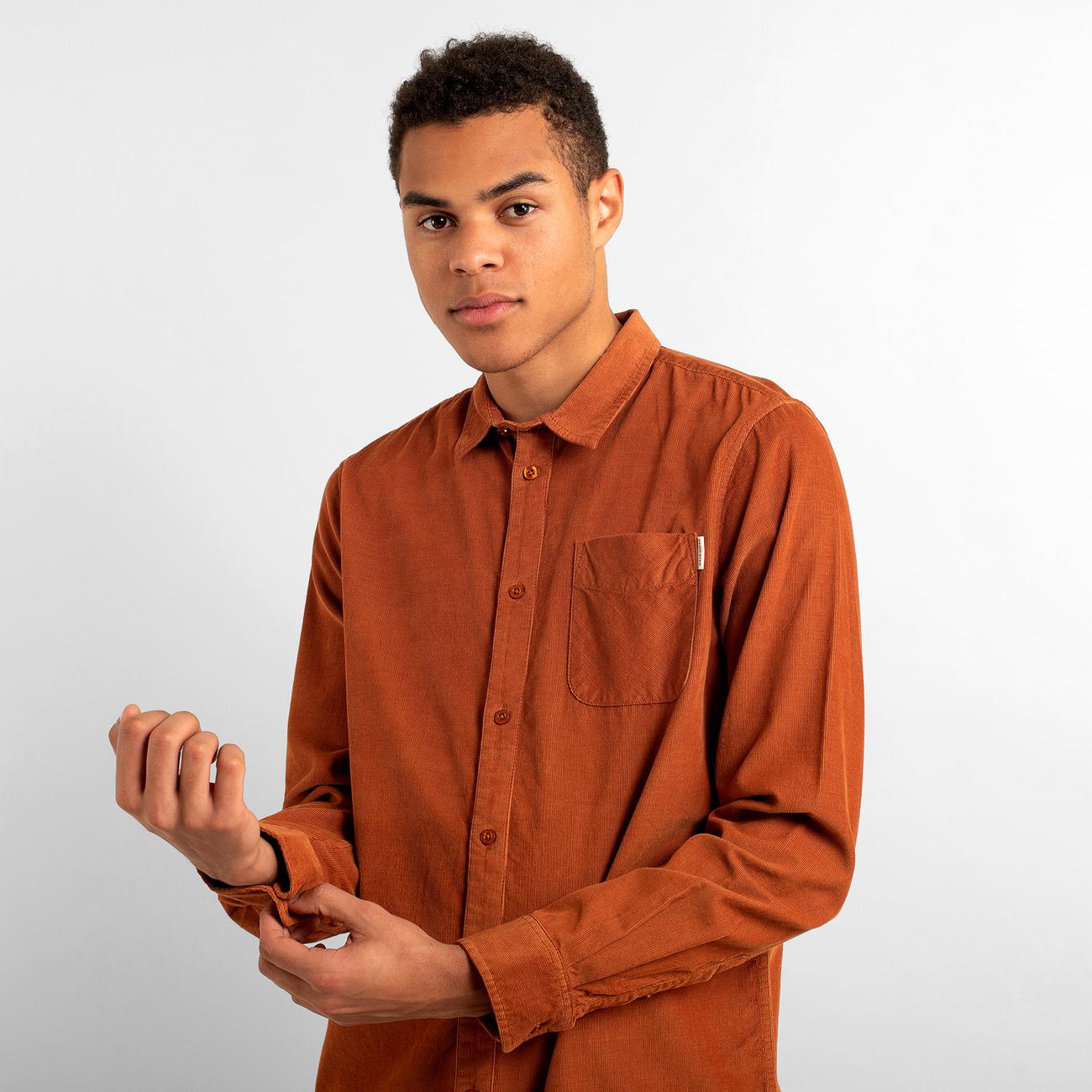 Shirt Varberg Corduroy Mocha Brown