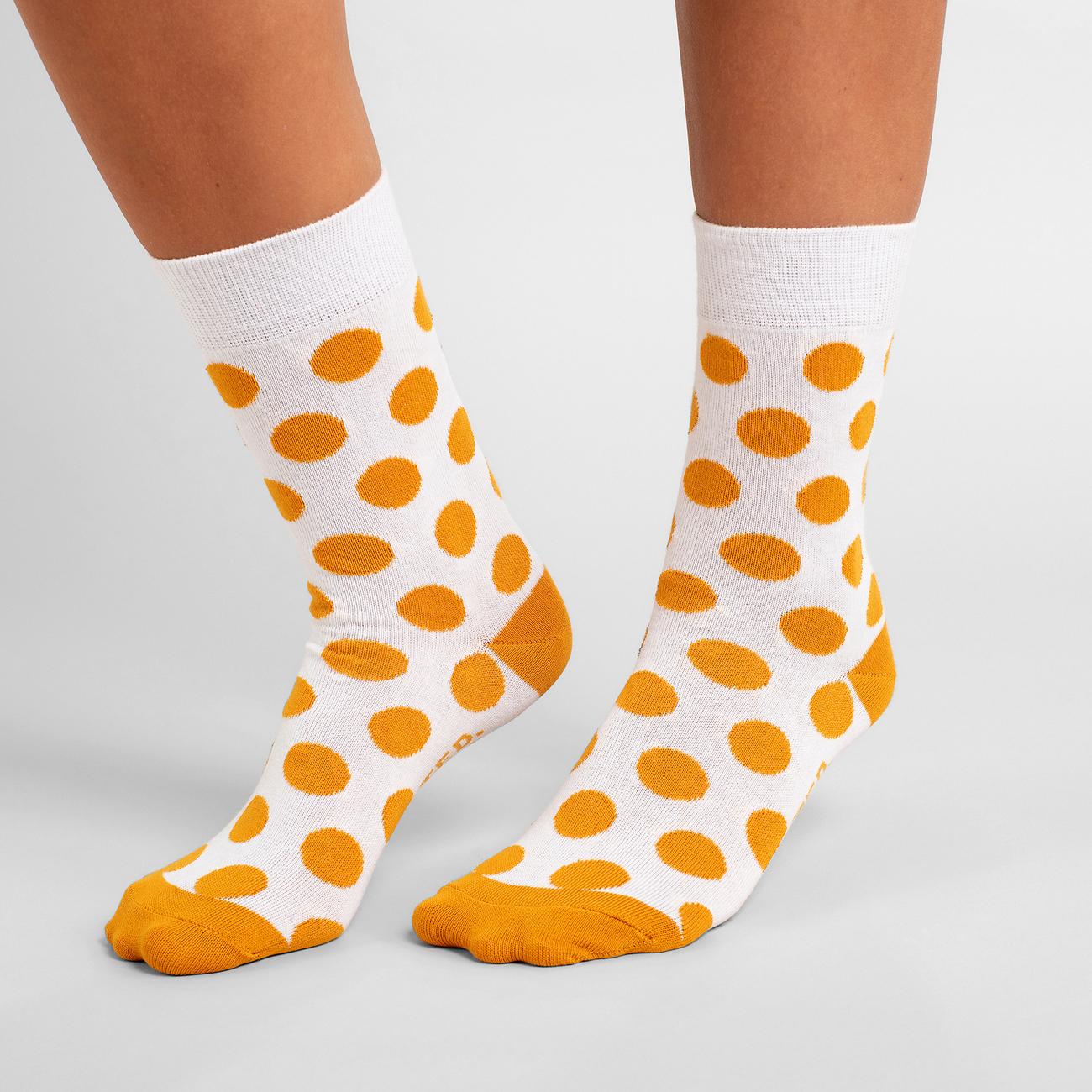 Socks Sigtuna Dots Golden Yellow