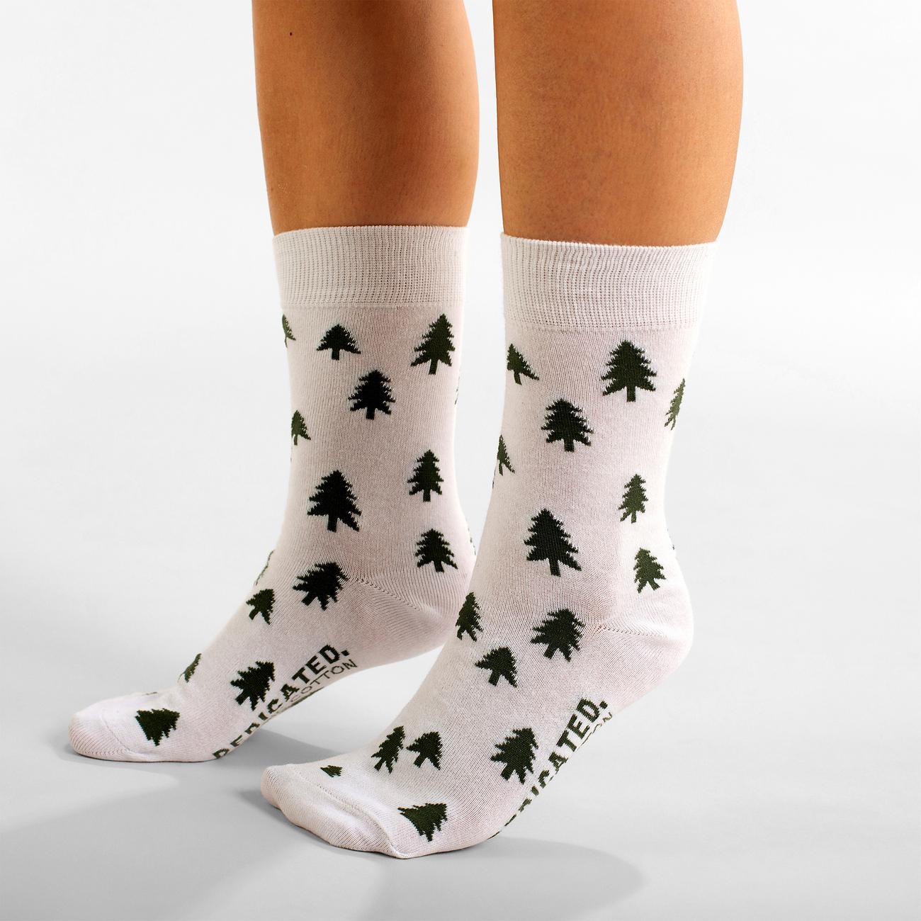 Socks Sigtuna Trees White