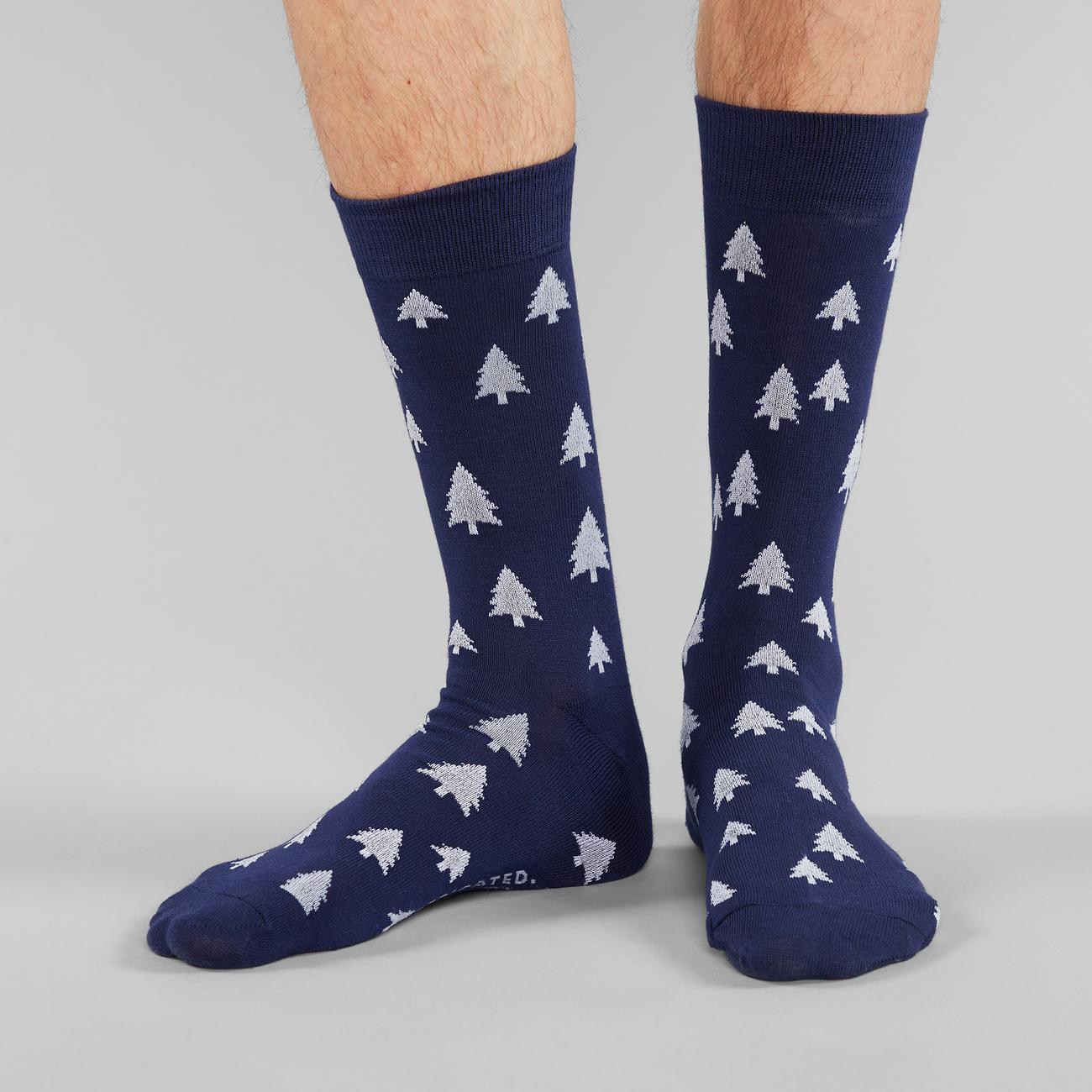 Socks Sigtuna Trees Navy