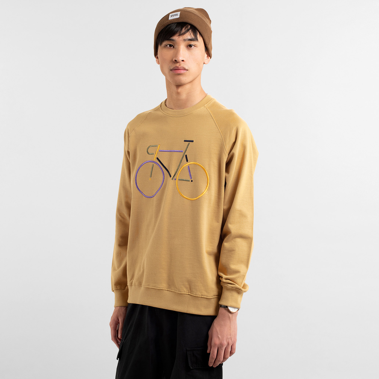 Sweatshirt Malmoe Color Bike Beige